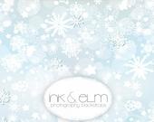 "Holiday Backdrop 6ft x 6ft, Vinyl Photography Backdrop, Christmas Backdrop, Winter snowflake backdrop, party backdrop ""Frosty Christmas"""