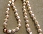 """beaded vintage necklace - 23"""""""