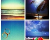 Coastal Queensland Photography - Summer Beach Note Card Set - Instagram Photos 4x4