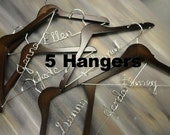 Personalized Bridesmaid Hangers Wedding Hangers Solid Wood Hangers Bridal Accessories Personalized Hangers