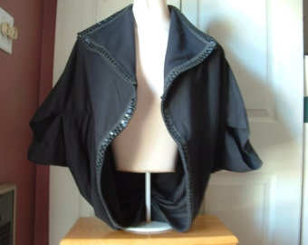 Turtle wrap jacket in black one size fits most S-M-L women wear two ways
