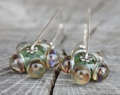 Unique Lampwork Bubble Earrings