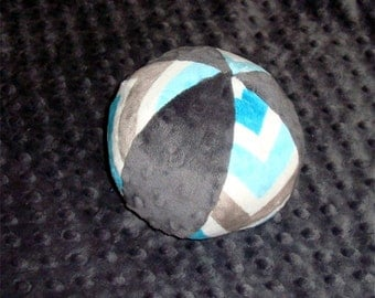 """Bird Tweet Ball -  Minky Ball for Baby or Puppy  -4.5"""" or 7"""" Ball - Choose from a Variety of Colors"""
