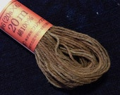 Fujix #5 Japanese Persimmon hand dyed cotton thread dark gray brown kuresome