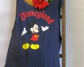 Reusable/Recycled Market/Tote Bag Disneyland Mickey Mouse Handmade by FashionGreenTBags