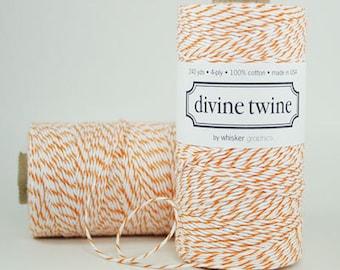Full Spool (240 yards) Orange and White Divine Twine Baker's Twine