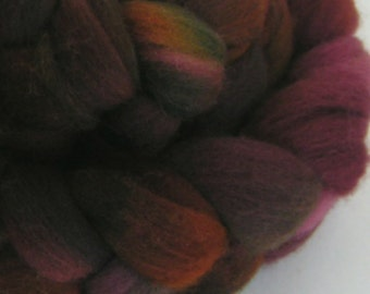 Roving Fiber Top Wool RAPHAEL easy spin 4 oz FALKLAND Phatfiber Feature November Gorgeous Spin Felt Craft Wine Gold Purple