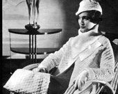 1930s Knitting + Crochet Pattern- Coat, Hat, & Bag- PDF Pattern Download