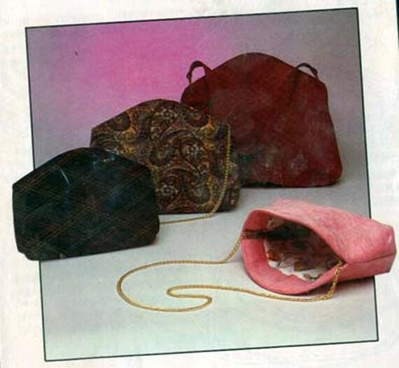 Vintage 80s Ghee's Empress Handbag Purse Sewing Pattern  UNCUT