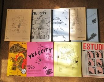 Mail Art Magazine Velocity and Estudio Published Mid 80s