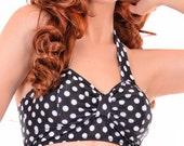 Lois Retro Polka Dot Bikini Top Sizes S, M, L, XL