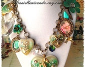 Seahorse Heart of the Ocean Statement Charm Necklace