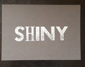 Shiny (inspired by firefly) Letterpress postcard print