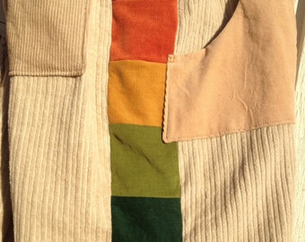 RAINBOW Patchwork Corduroy Shorts...Choose your color choose your length