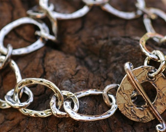 Oval Linked Charm Bracelet in Sterling Silver