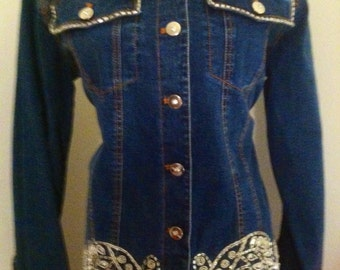 Altered Couture Jean Jacket Hipster 1990s