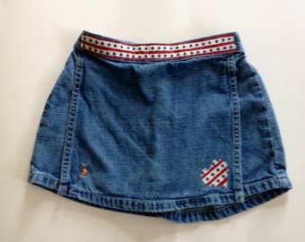 Altered Couture Polo Toddler Denim Skort