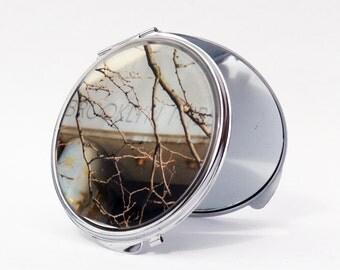 COMPACT MIRROR - Brooklyn Library Mirror - Makeup Mirror - Brooklyn Gifts