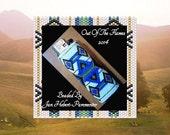Bead PATTERN Diamond Weave Lighter Cover Peyote or Brick stitch