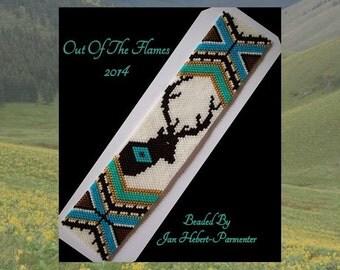 Bead PATTERN  Vanishing Herds- Elk Cuff Bracelet Peyote or Brick Stitch