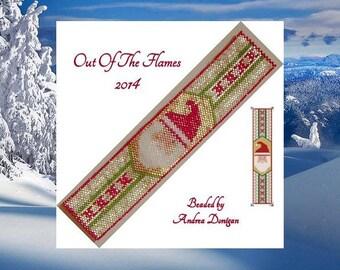 Bead PATTERN Santa  Cuff Bracelet Peyote Brick Stitch