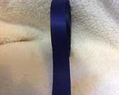 Navy Blue Satin  Ribbon  7/8 inch  2 yards