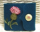 Thistle Flower Needle Book