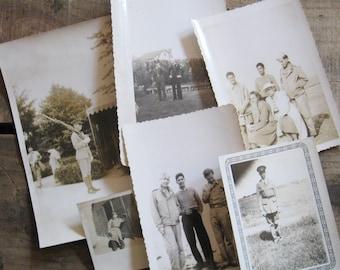 Vintage Military Photographs - Set of 6