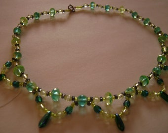 SALE, Lime and Turquoise Necklace