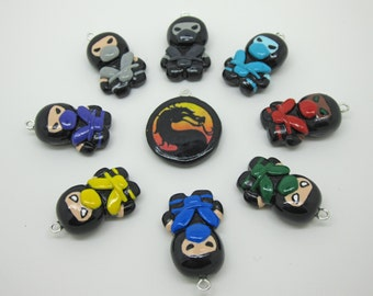 Choose Your Own Colorful Mortal Kombat Video Game Ninja Charm