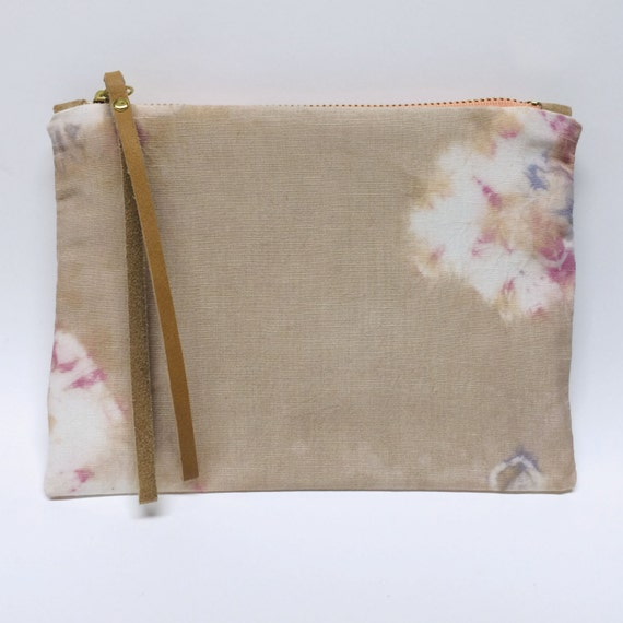 Ngong Cosmetic Case in hand dyed silk linen