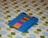 The Diana Coin Purse--Blue green and rainbow