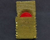 Vintage Gold Plated Mesh Chain Maille Change Purse, Amulet Bag