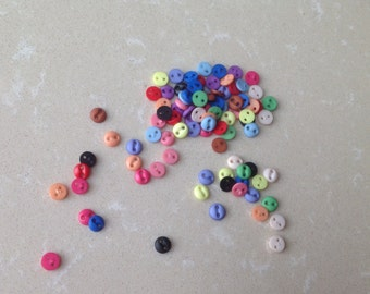104pcs+ 5mm Tiny Buttons for Baby/Babydoll Clothes