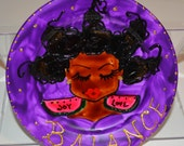 Luscious Art Saucer- BALANCE   (myPURPLE)   JOY LOVE