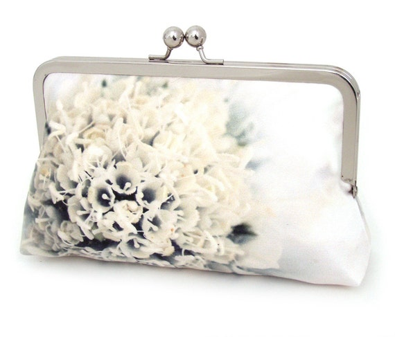 Clutch Bag Silk Purse Ivory Petals Wedding Purse By Redrubyrose