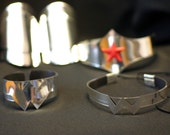 Wonder Woman New 52 Full Accessory set Silver Cuff Bracers, Tiara, Arm Band and Neck piece