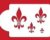Fleur de Lis Cookie Toppers Stencil Set for Cookies, Cakes & Cupcakes - Designer Stencils (C153) face painting