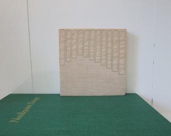 Modern Design Textile Wall Art by Tiny Marie Metallic Gold Natural Sheer Linen OOAK