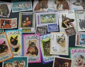 RESERVED 30 Stamps-Dogs and Cats