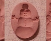 Custom Small Bisque Pottery Pendant or Necklace - Aromatherapy Essential Oil Diffuser - Choose Shape and Design - SNOWMAN Series