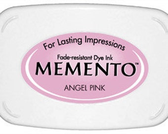 Angel Pink ink pad for rubber stamps Memento stamp pad