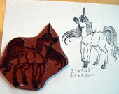 Unicorn Cling Mounted rubber stamp