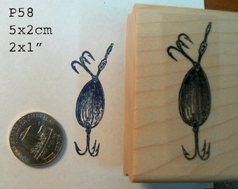 P58 Lure rubber stamp