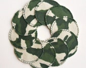 10 Camo Cotton Rounds, Washable and Reusable, Camouflage Make-up Remover Pads