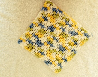 Crochet Dishcloth-Cool Breeze Ombre