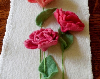 Begonia - Felted Flower - choice of color