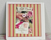 Happy Valentine Greeting card with gift card envelope