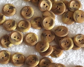 Shaded Tan buttons, 16mm x 4