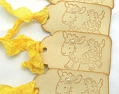 Vintage Inspired Little Lamb Gift Tags - Set of 40 Tags - RESERVED